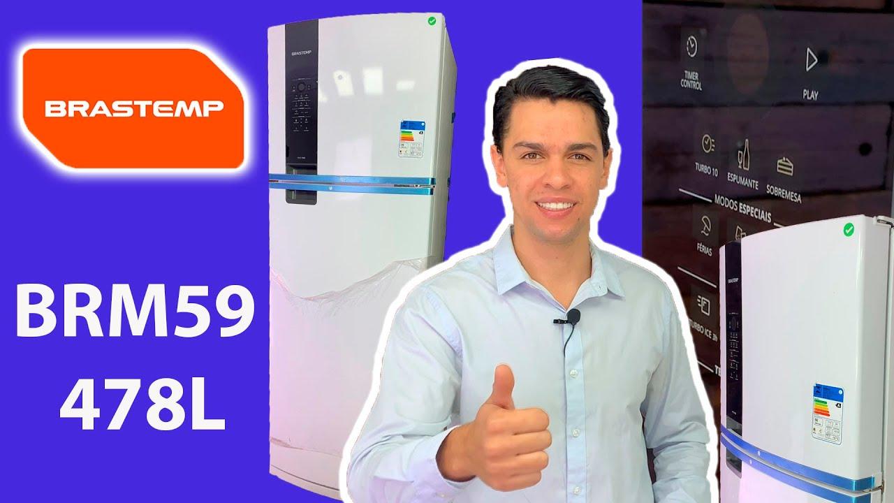 O Refrigerador Duplex mais completo da Brastemp 478l / Review Brastemp BRM59 - Branco