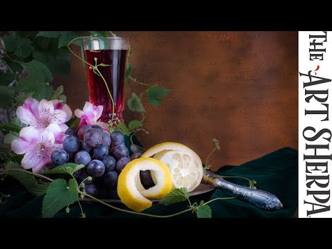 How to Paint Silver, Metallic & Shiny Objects completing the Stillife