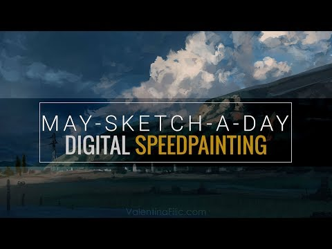 Digital Painting   Landscape Concept Art   Speed Painting Time Lapse [May-Sketch-A-Day 18]