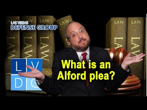 "What is an ""Alford plea"" in Nevada?"