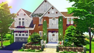 Beautiful Brick Home Shell | The Sims 4 Speed Build Collab with Lianmirabell thumbnail