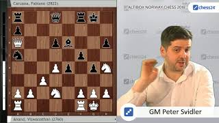 Anand-Caruana - Svidler's Norway Chess 2018 Game of the Day