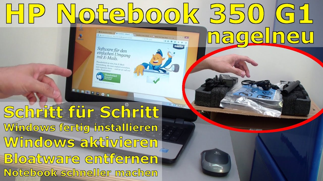 HP Notebook 350 G1 - Hewlett-Packard Laptop Windows installieren Bloatware  entfernen