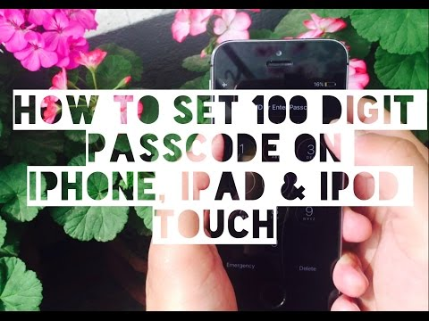 How to set custom passcode over 100 Digit on iPhone, iPad & iPod Touch
