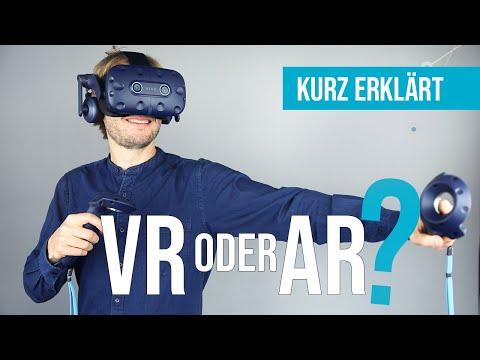 VR oder AR? Der Unterschied zwischen Augmented Reality (AR) und Virtual Reality (VR) | Kurz erklärt