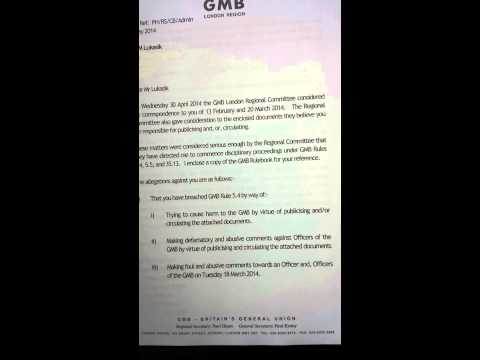 Trade Union GMB called police because I wanted help