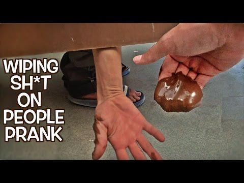 Wiping Sh*t On People Prank Part 4 : Bathroom Prank Gone Wrong
