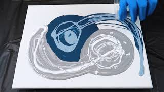 Fluid Painting Ring Pouring Technique | YIN YANG Style