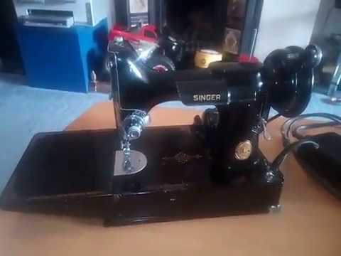 40 SINGER 40 Featherweight Sewing Machine Serial No AG40 Stunning 1947 Singer Featherweight Sewing Machine