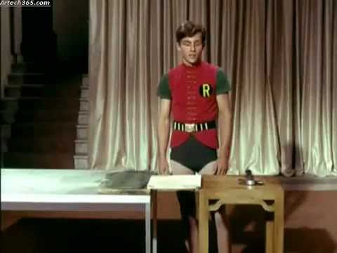 Burt Ward auditioning for ROBIN 1965