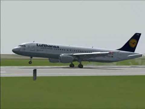 A320 Wet Landing