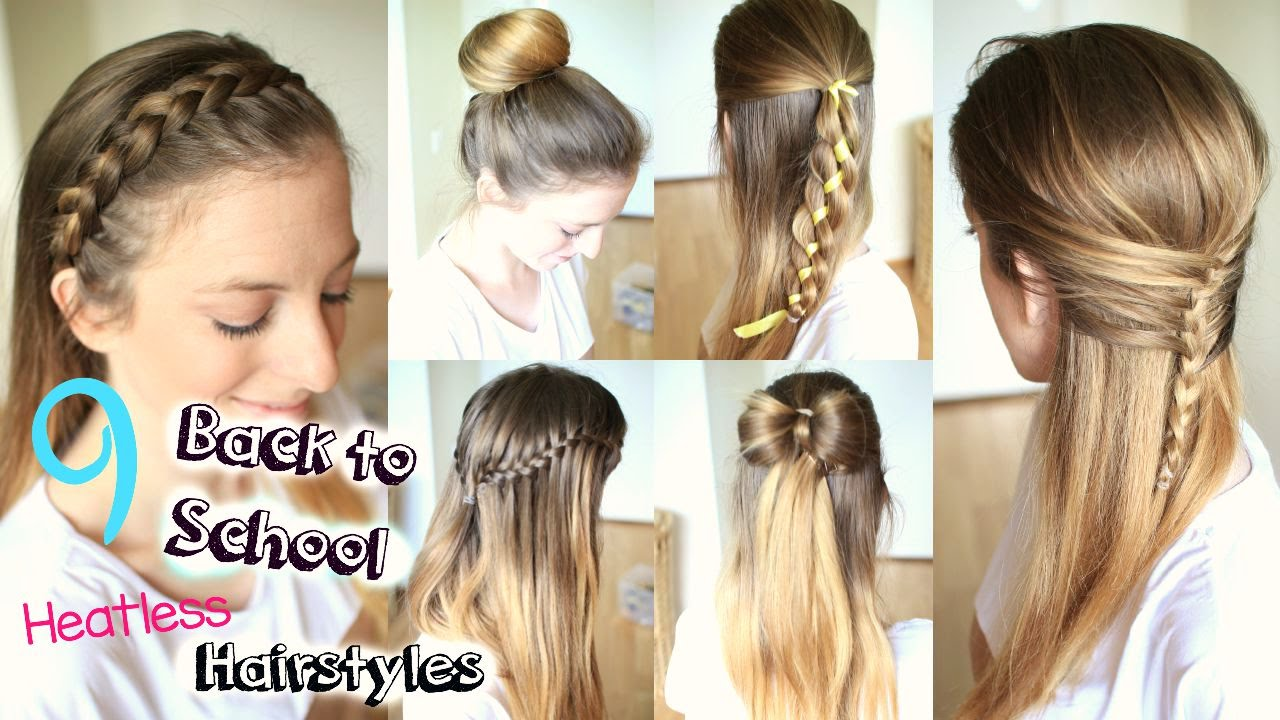 9 Back to School Heatless Hairstyles | Braidsandstyles12 - YouTube