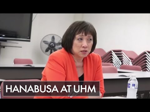 HIGHLIGHTS: Congresswoman Colleen Hanabusa addresses a political science class