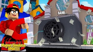 ROBLOX - MAGNET SIMULATOR UPDATE, TAKING ALL THE MONEY!!