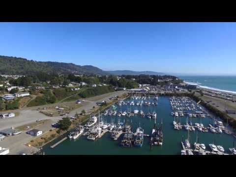 Port of Brookings-Harbor and Sporthaven Beach (4k)