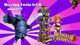 Clash of clans - Buying lvl 8 tesla, Pekka lvl 5 & jump spell lvl 3 (w/ gameplay)