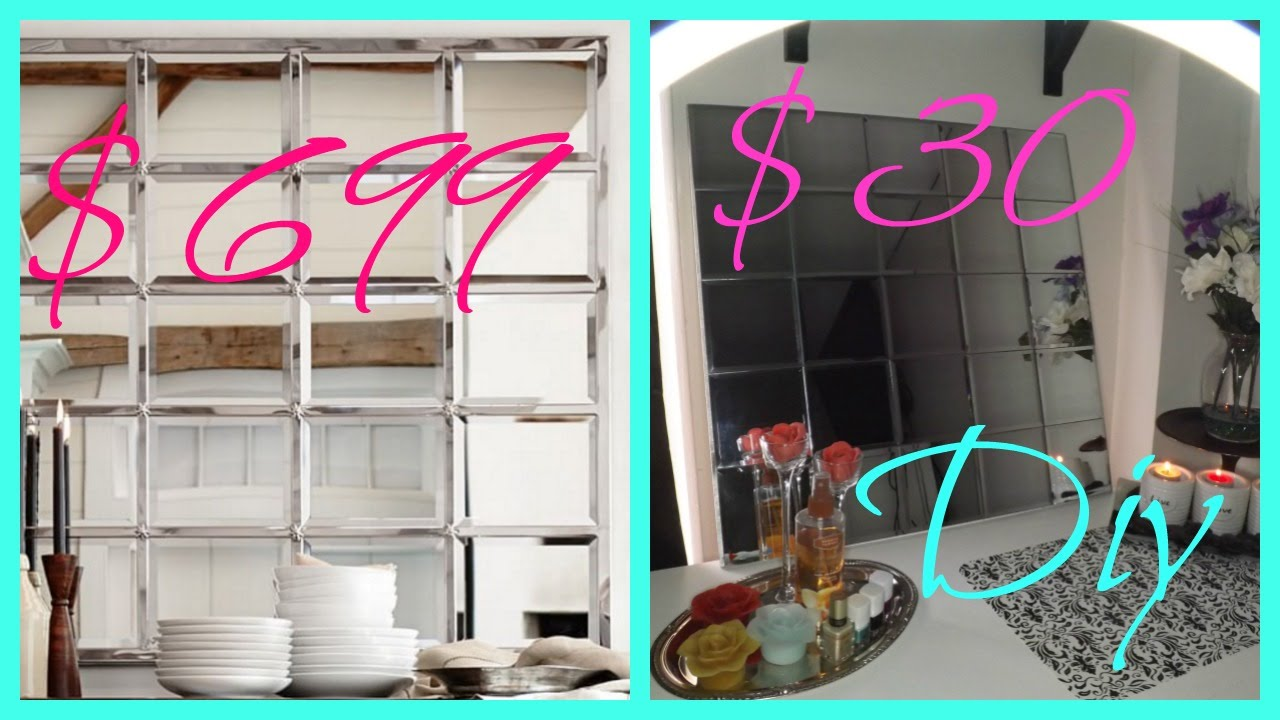 Diy Dollar Tree Wall Mirror Youtube