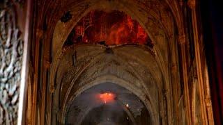 Incendie à Notre-Dame: les premières images de l'intérieur de la cathédrale