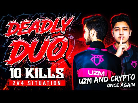 Deadly Duo Uzm & Crypto Dominating Once Again Pmpl South Asia 2v4 In Final Zone