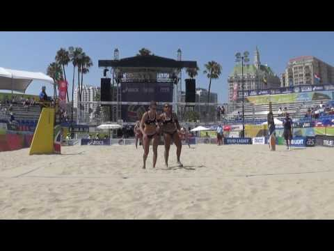 FIVB 2016: #29 Claes/Hughes vs #20 Michelle/Filippo(PAR) 8/25/16