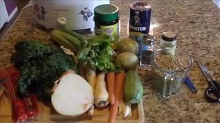 Antonio's Kitchen - Lentil, Kale And Parsnip Crockpot Soup