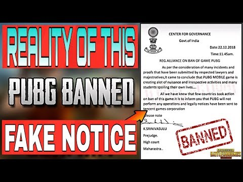 Pubg Ban India Legal Notice Expose | Full Detail | Reality