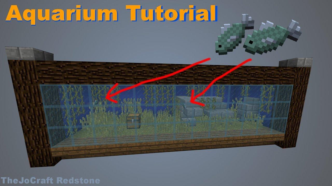 aquarium mit echten fischen tutorial in minecraft youtube. Black Bedroom Furniture Sets. Home Design Ideas