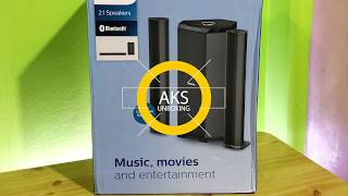 Philips MMS8085B 2.1 Home Theatre UnBoxing by AKS
