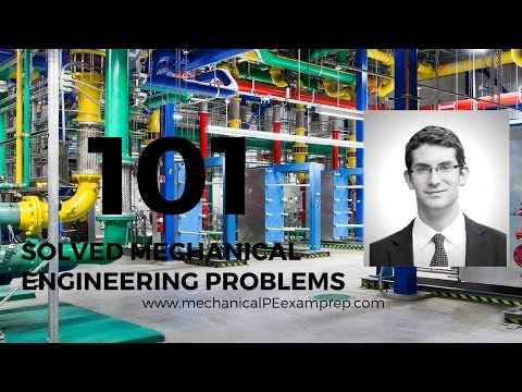 101 Solved Mechanical Engineering Problems - Fluid Statics and Dynamics Problem 1of9