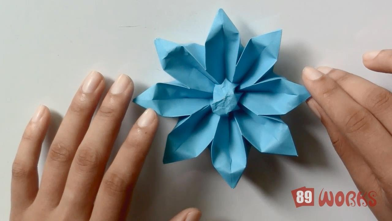 origami hand works gerbera flower handiworks 04 youtube