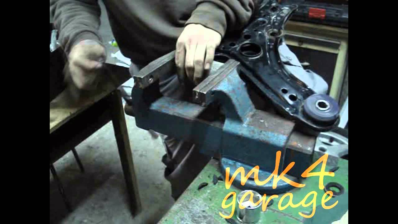 How To Remove Control Arm Bushings Youtube