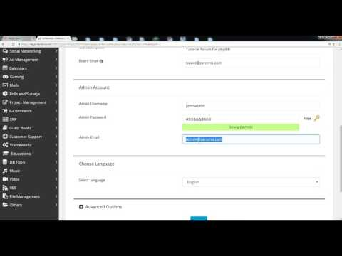 How to Install phpBB Forum via Softaculous in cPanel - Course +HD + Latest - P80