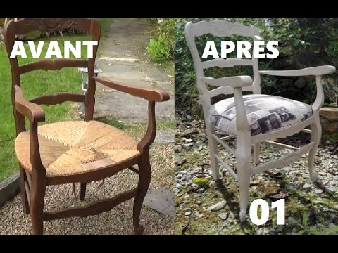 Chaise en paille d sossement de l 39 assise 1 youtube - Chaise en paille blanche ...
