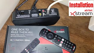 Installation Airtel Xstream   How to Install Airtel Xstream 4k Smart Set Top Box