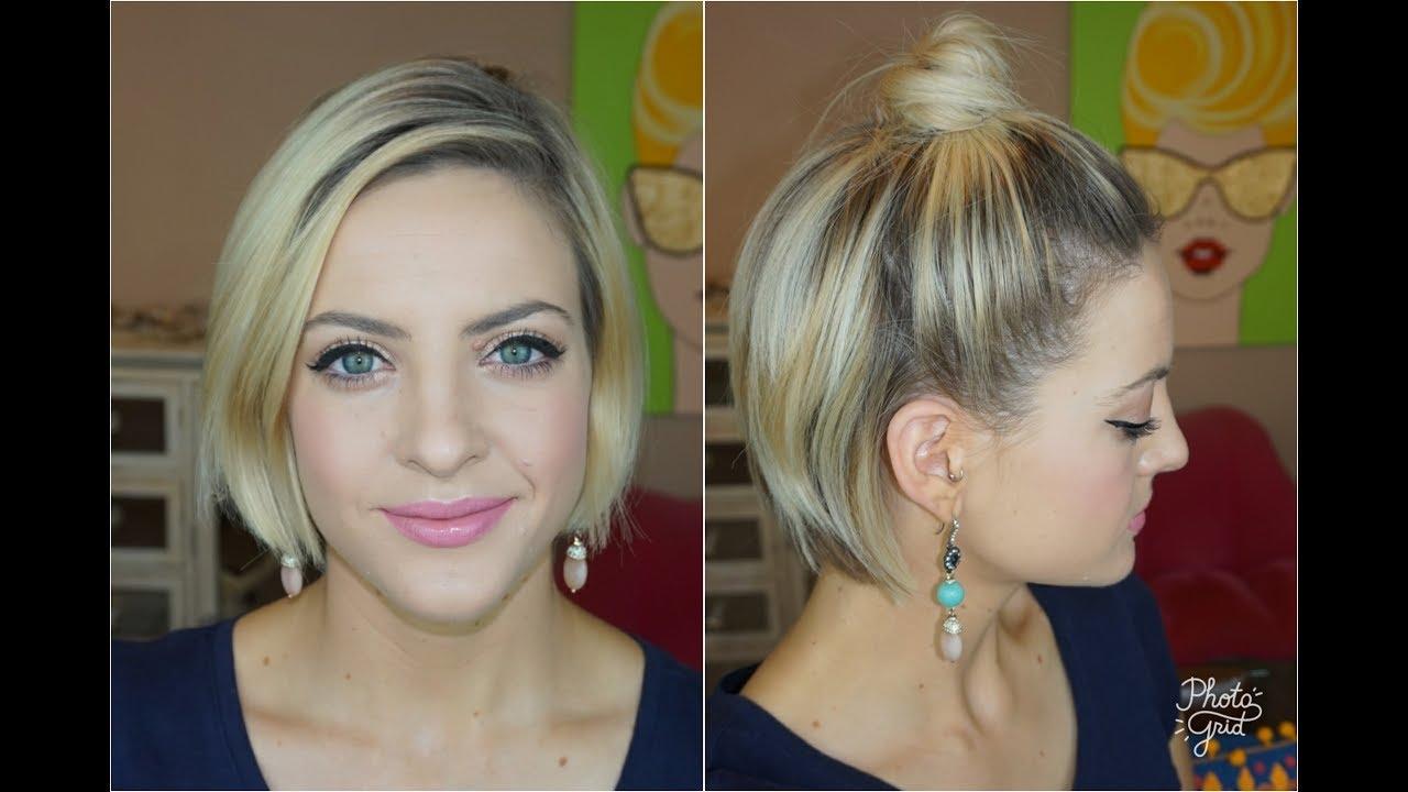 Buns For Short Hair Simple Top Bun Pinit