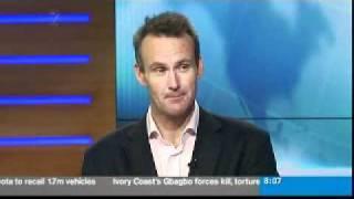 Bernard Hickey talks on TVNZ7 news