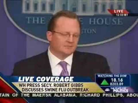 WH Press Briefing Room Laughs At Gibbs Answer