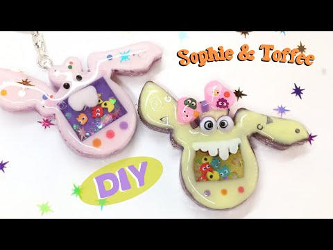 Pocket Monsters- Shaker charms- Sophie & Toffee Elves Box- Resin Crafts- DIY