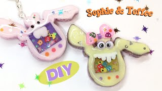 Pocket Monsters- Shaker charms- Sophie & Toffee Elves Box- Resin Crafts- DIY