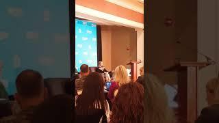 Ivanka Trump speaking at Camp Lejeune