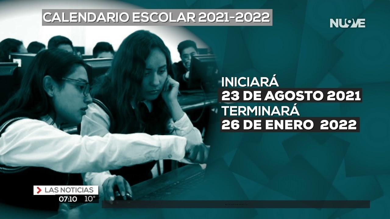 Calendario escolar 2021-2022.