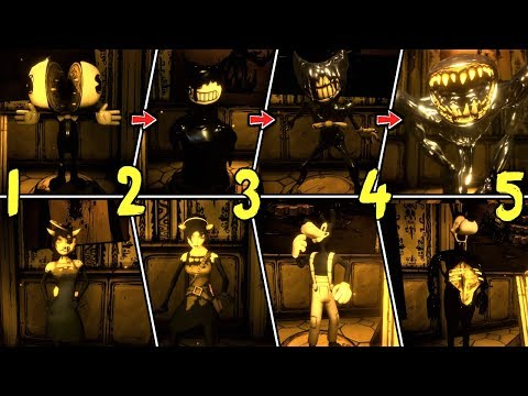 ALL BENDY CHAPTER 1-5 EXTRAS!! | Bendy and The Ink Machine ARCHIVES & SECRETS