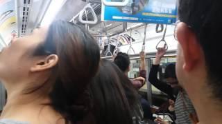 Tokyo Metro, rush hour Saturday 2016/04/16