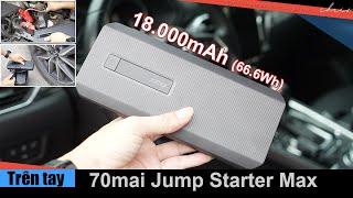 Trên tay Pin sạc dự phòng đa năng hỗ trợ khởi động kích nổ xe ô tô khẩn cấp 70mai Jump Starter Max