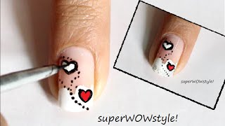 Innocent Love ❤ Valentines Day Nail Designs