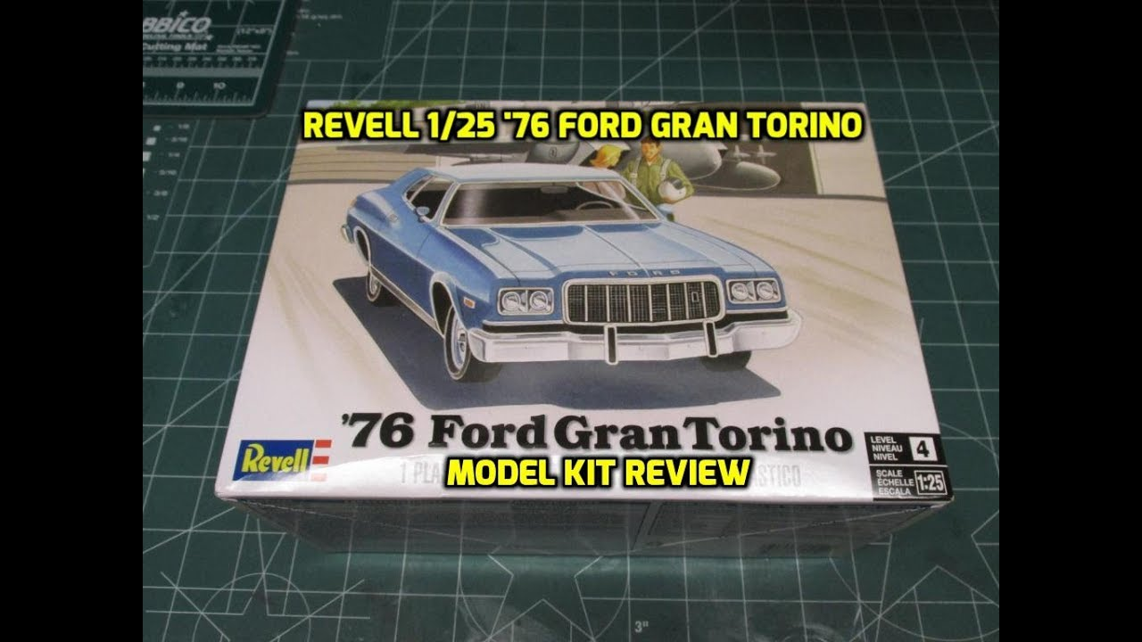 Revell 1/25 '76 Ford Gran Torino Model Kit Review 85-4412 ...