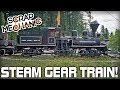 Building a Shay Style Steam Gear Train! (Part 2/2 After Fire Alarm) (Scrap Mechanic Live Stream)