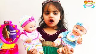 Ashu Pretends Play Baby Sitting with Dolls | Girls Videos by Toys And KidsPlay