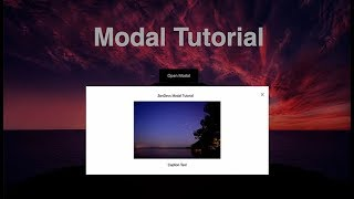 Simple Modal Pop Up Tutorial using only HTML, CSS & JavaScript