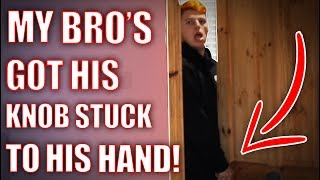 SUPERGLUED HIM TO HIS KNOB **PRANK!!** (WATCH TILL END!)